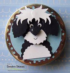 cute dog punch art