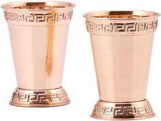 OLD DUTCH Old Dutch Solid Copper 12 Oz Mint Julep Cups Set of 2