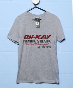 Oh Kay Plumbing T Shirt - Sport Grey / Medium