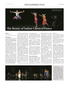 The Beauty of Indian Classical Dance (Pg 1/2) --- (Epoch Times, Singapore Edition: Issue 492, August 8 – August 21, 2014)
