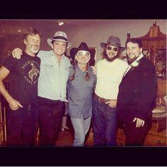 Kris Kristofferson, Johnny Cash, Willie Nelson, Hank Williams, Jr., and Waylon Jennings
