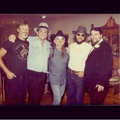 Kris Kristofferson, Johnny Cash, Willie Nelson, Hank Williams, Jr., and Waylon Jennings