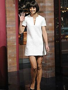 Katie Holmes Cream Sheath Dress