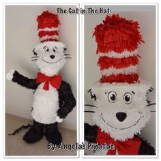 The Cat in The Hat  piñata  custom made  by angelaspinatas on Etsy, $65.00 Www.facebook.com/angelaspinatas