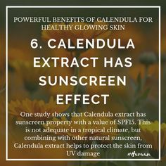 Calendula Benefits, Natural Sunscreen, Glowing Skin, Healthy, Health