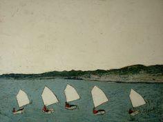 karen tusinski, 5 Boats, 30 x 40