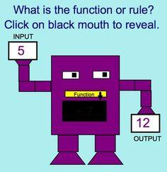 Input - Output Function Machine Math Smartboard Lesson