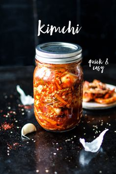 Kimchi-jieper and no time for days of fermentation? Our quick kimchi is quickly prepared and helps against kimchi frustration. More from my siteKorean Beef Bowl – Asiatische Rezepte Easy Healthy Recipes, Raw Food Recipes, Asian Recipes, Easy Meals, Quick Kimchi, Kimchi Kimchi, Roh Vegan, Eat This, Salads