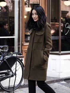 Try a utilitarian coat.