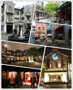 Xin Tian Di (New World) is a high-class shopping, eating and entertainment area in Shanghai. It boasts a variety of restaurants, cafés, shops and other entertainment venues and holds a special charm at night with its multitude of lights and outside seating areas.