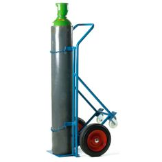 Model CT209Y #Cylinder #Trolley This cylinder trolley incorporates a unique lifting toe plate, sliding upwards when the truck is placed up against a pallet to make the cylinders easier to slide off The support frame is fitted with two swivel castors, making the unit easily maneuverable The large wheels on the front of the unit make it easier to go over rough terrain Max cylinder dia: 240mm See more at: http://shop.hsil.co.uk/p-3473-cylinder-trolley.aspx#sthash.3y8x3HTG.dpuf