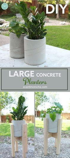 DIY Large Concrete Planters   Maceteros de Concreto   Cement   Cemento   Industrial Design
