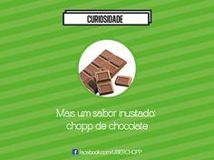 Chocolate é bom, chopp então... De certo dá samba isso aí, ein?  #UberChopp #26setembro #chopp #chocolate