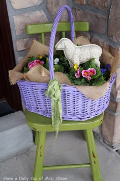 Hello, and welcome to Share Your Cup, (SYC for short). The party where you share what makes you happy. It's nice to be back. What Makes You Happy, Are You Happy, Tuesday Afternoon, Welcome Spring, Blogging, Planters, Basket, Collections, Posts