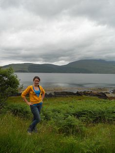 Scotland Entry # 039    This photo was taken on Mull Island in Scotland overlooking a loch. As is usual in Scotland, it was a drizzly day and my Tribe hoodie kept me warm and cozy.    Photo by Caitlyn Darnell  class of 2013