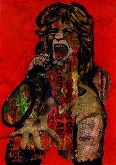 "Saatchi Art Artist CARMEN LUNA; Collage, ""8-Collagemania Carmen Luna. Mick Jagger. (SOLD)"" #art http://www.saatchiart.com/art-collection/Assemblage-Collage/Collagemania-CARMEN-LUNA/71968/46137/view"