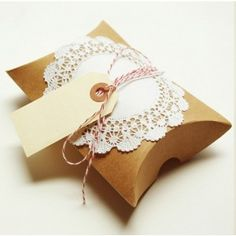 Gift Packaging Kit Cherry Manila by packagery on Etsy Paper Packaging, Pretty Packaging, Gift Packaging, Packaging Ideas, Diy Gifts, Handmade Gifts, Altered Boxes, Pillow Box, Simple Gifts