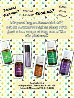 Young Living Essential Oils for Snoring, Sleep,  Teeth Grinding. Independent Distributor #1811388