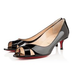 Christian Louboutin Womens Croisette 45mm Black Patent Sandals Arch size: 45mm. Color: Black. Monsieur Louboutin may be known for his sky high heels, but let's