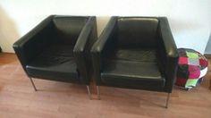Kožená černá křesla KLAPPSTA (IKEA) - 1