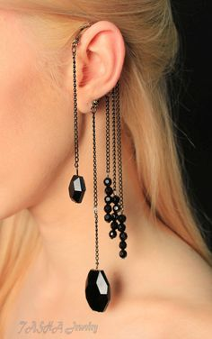 HOT Punk Rock Gothic Vintage Black Crystal Beads by TashaJewelry4U, $14.99