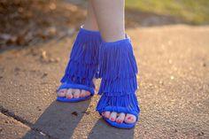 Fringe Heel Sandals