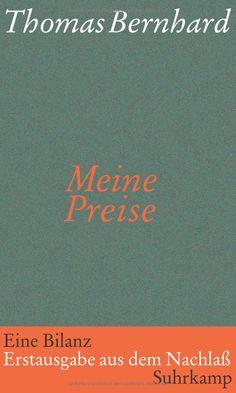 Meine Preise: Thomas Bernhard