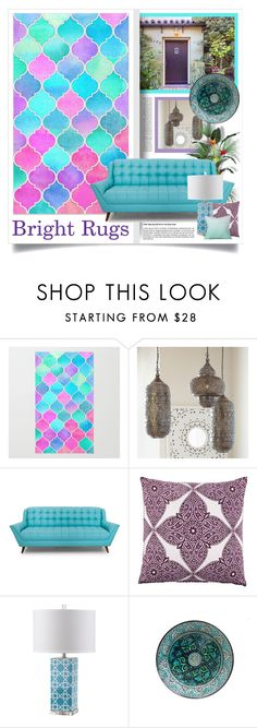 """""""Bright Rugs"""" by lenochca ❤ liked on Polyvore featuring interior, interiors, interior design, home, home decor, interior decorating, PBteen, DENY Designs, colorfulrugs and brightrugs"""
