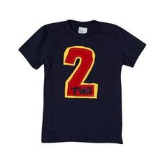 "Toddler Boys Navy Short-Sleeve ""I'm Two"" Tee by Morfs"