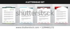 Find Letterhead Template Set stock images in HD and millions of other royalty-free stock photos, illustrations and vectors in the Shutterstock collection. Letterhead Design, Letterhead Template, New Pictures, Land Scape, Royalty Free Photos, Create Yourself, Ads, Templates, Letterhead