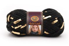 Gold Leaf Yarn from Lion Brand Yarn