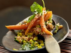 Bulgur-Paprika-Salat - mit Koriandermöhren