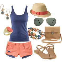 beach wear #beach #summer #Floridawear with longer shorts ofcourse...no daisy dukes for me..
