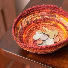 Adult Craft Night at Manchaca will be making fabric coiil coasters in October, join them!