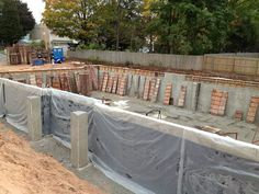 October 15th 2012 - The foundation walls are up, and the new office is moving right along.