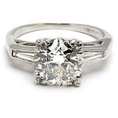 Conflict Free Old European Cut Diamond Engagement Ring Solid Platinum Eco Friendly - EraGem