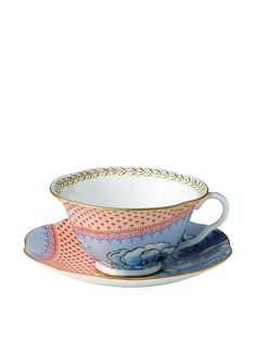 Wedgwood Butterfly Bloom Blue Peony Teacup & Saucer Set, Red/Blue, http://www.myhabit.com/redirect/ref=qd_sw_dp_pi_li?url=http%3A%2F%2Fwww.myhabit.com%2Fdp%2FB007CL7382