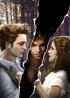 Edward, Jacob and Bella - Awesome Fan Art - The Twilight Saga
