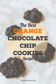 cookie recipe, orange chocolate chip cookies, orange cookies, double chocolate, dark chocolate orange, orange desserts, citrus desserts, summer dessert, summer snacks, cookie recipes, new cookie recipes