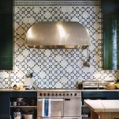 The Material: Patterned Cement Tile Why It Works: We've made it known that we love patterned cement tiles, but the backsplash might just be one of our favorite places for it. At eye level, it's a feast for the eyes, and with every color under the sun available in these tiles, it's a beautiful way to bring attention to other colors in your home. To Try: Ambrose Cement Tile, from $7, Villa Lagoon Tile
