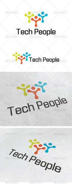 Tech People Logo — Photoshop PSD #connect #host • Available here → https://graphicriver.net/item/tech-people-logo/3374298?ref=pxcr