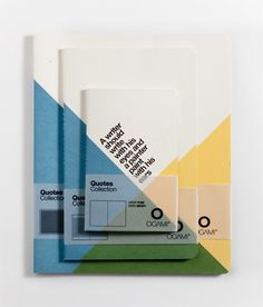 Quote notebooks designed by Officemilano and Paolo Frello for Ogami.