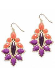 Orange Jazz Earrings - Modeets.com