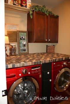 Counter over washer dryer