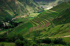 Terraces of Pisaq, Sacred Valley, Peru