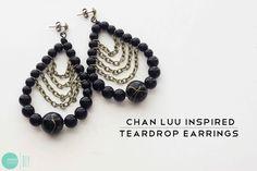 Tutorial: DIY Chan Luu Inspired Teardrop Earrings @ mintedstrawberry.blogspot.com