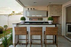 Inspirações e ideias pra decora, projetar ou reformar a varanda gourmet.