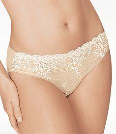5a616f10fa44 Wacoal Embrace Lace Bikini Panty #Dillards Lace Bikini, Women Lingerie,  Sexy Lingerie,
