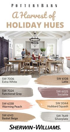 Hosting the holiday festivities this year? Before you feed your family, feed your soul—with DIY-friendly colors designed to make a house feel like home. Not sure you're ready to commit to painting an entire room? No problem.These soft, welcoming hues can be incorporated in so many ways (think trim, beams, furniture, even table decor). Explore the entire @PotteryBarn Fall/Winter 2017 palette featuring colors like Extra White SW 7006, Latte SW 6108 and Basket Beige SW 6143, among others.