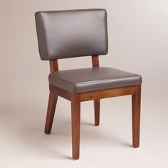 One of my favorite discoveries at WorldMarket.com: Gray Bonded Leather Sophia Chairs, Set of 2